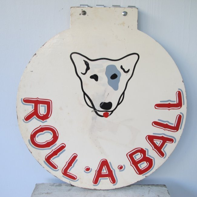 20th C Roll-A-Ball Painted Sign - 2