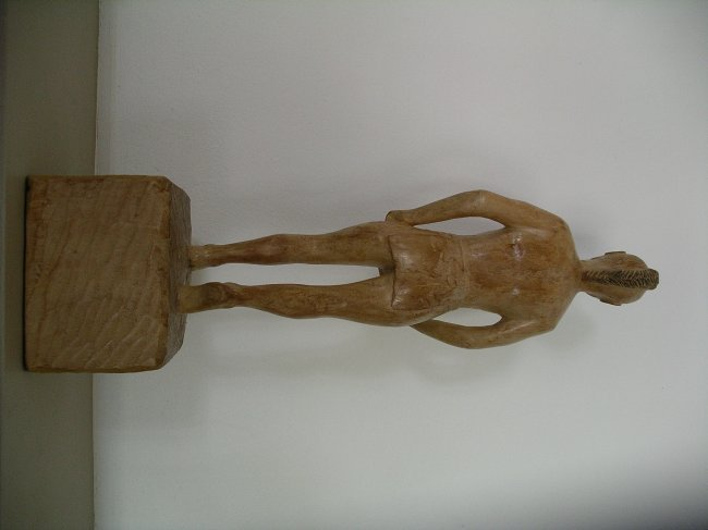 Carved Native American Figure - 3