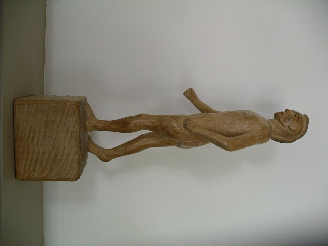 Carved Native American Figure - 4