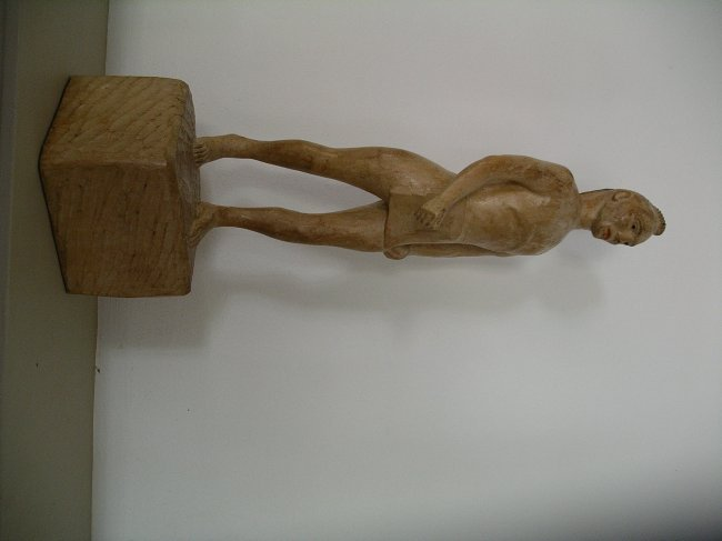 Carved Native American Figure - 5
