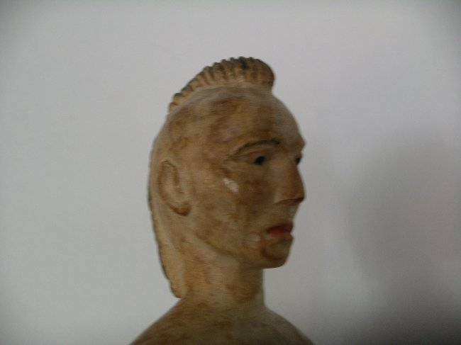 Carved Native American Figure - 6