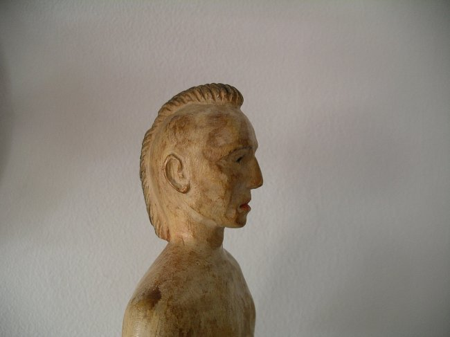 Carved Native American Figure - 7