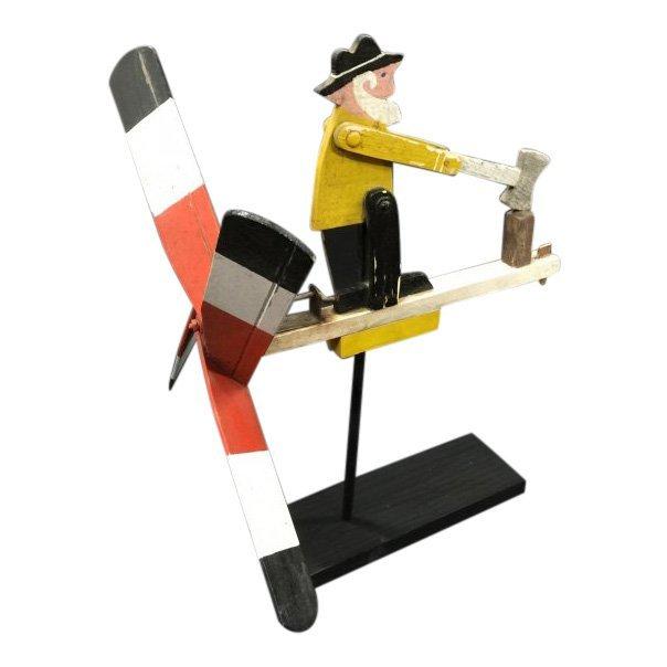1950s Whirligig Man Chopping Wood