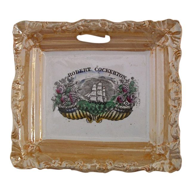 1840 Staffordshire Luster Plaque