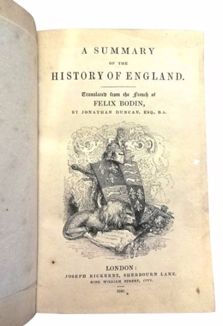 A Summary of the History of England, 1840