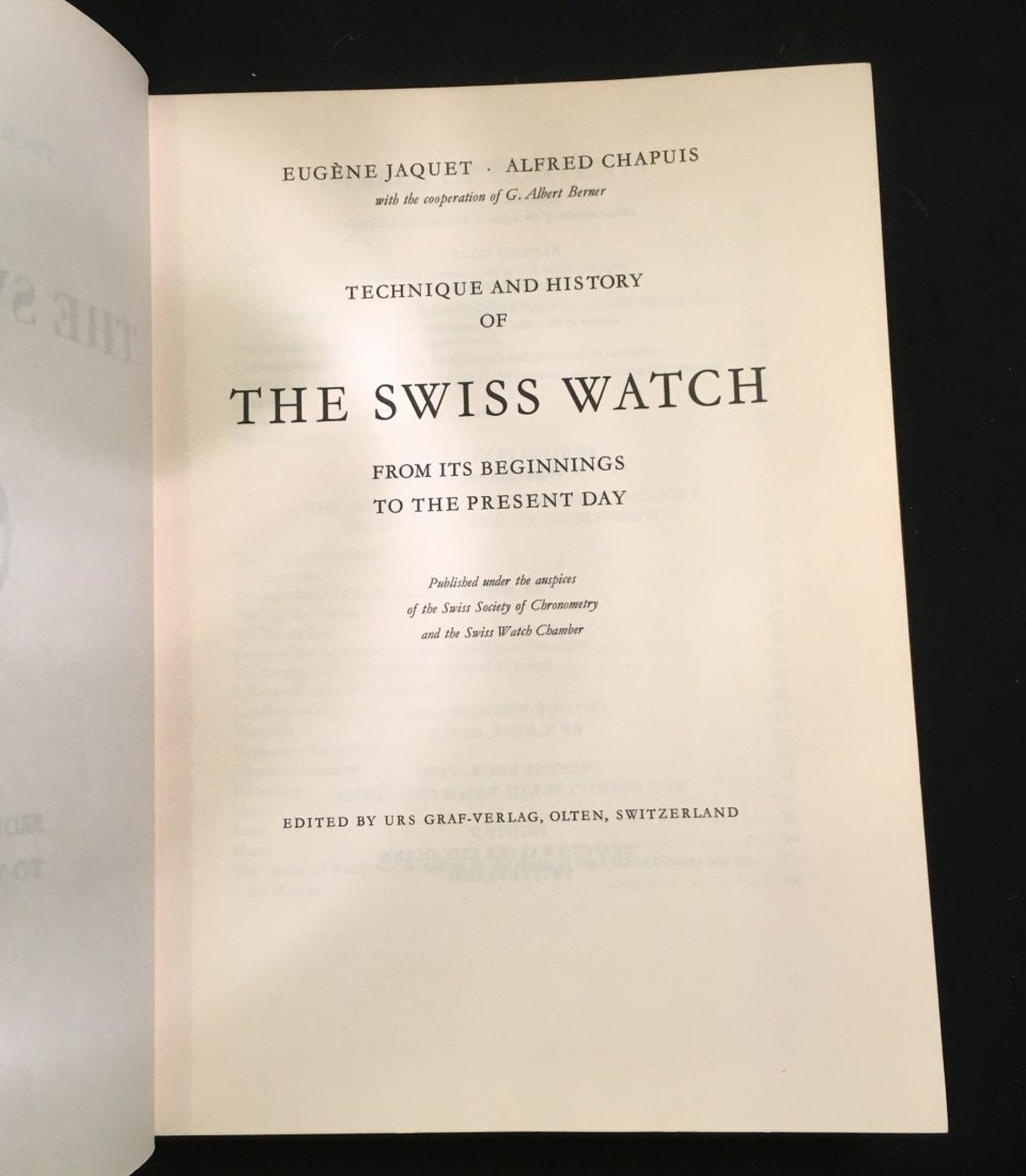 Technique and History of the Swiss Watch, 1953 - 3