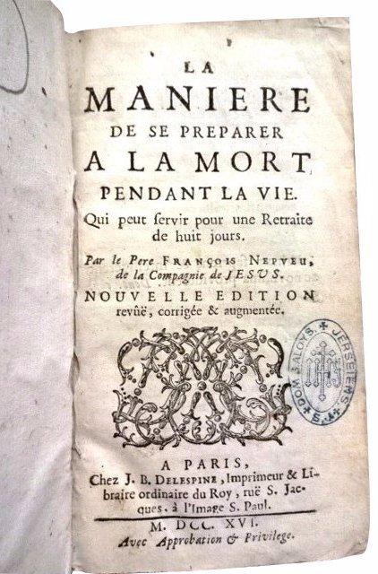 Preparer A La Mort Pendant La Vie by F. Nepveu, 1716