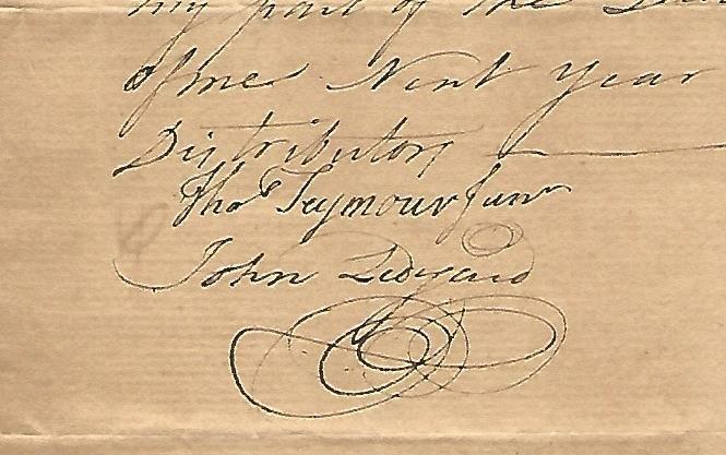 1768 Manuscript Colonial Receipts Signed John Ledyard - 2