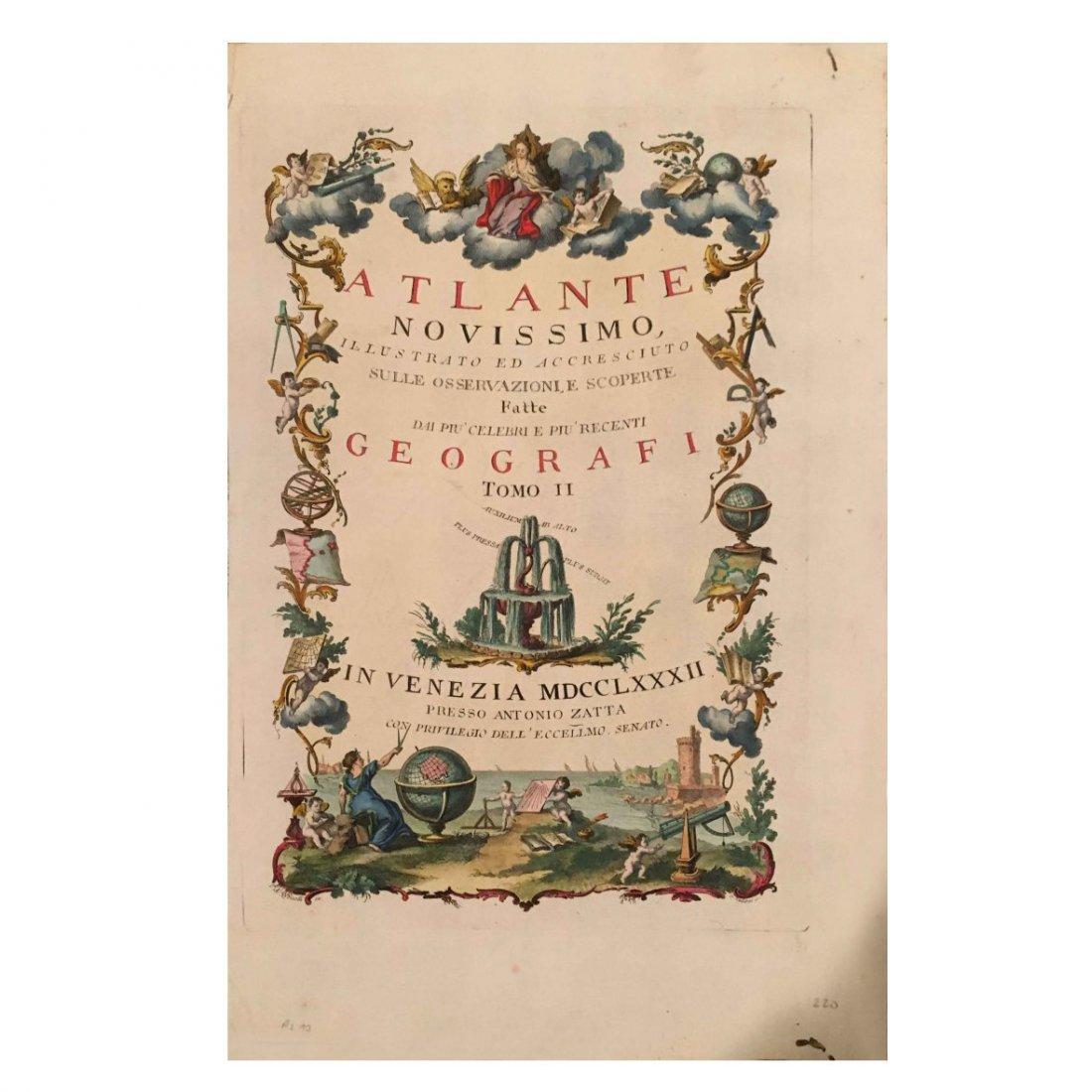 Atlante Novissimo, Antonio Zatta 1778