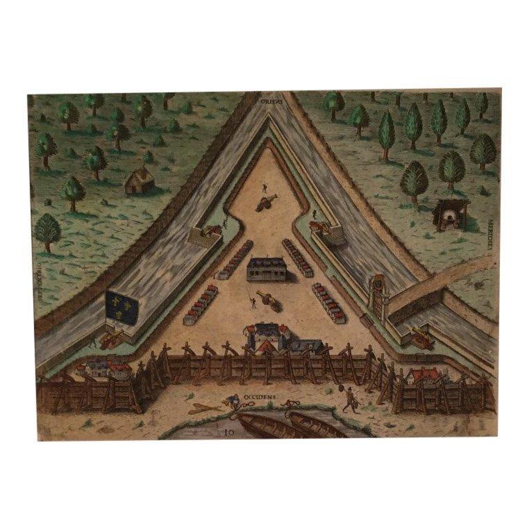 Fort Caroline, Theodore de Bry 16th C