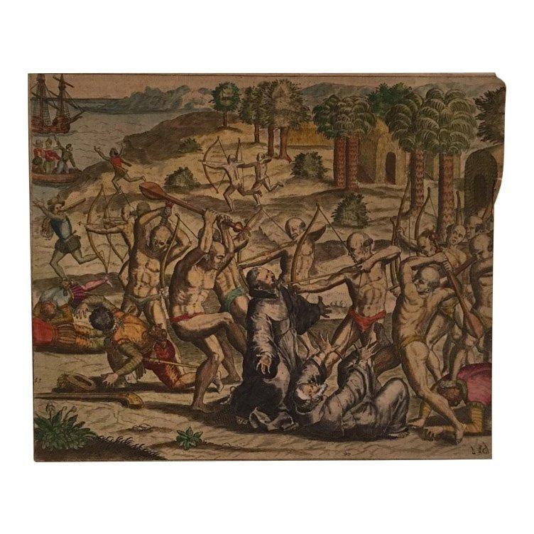 Killing Invaders in Venezuela, Theodore de Bry 16th C