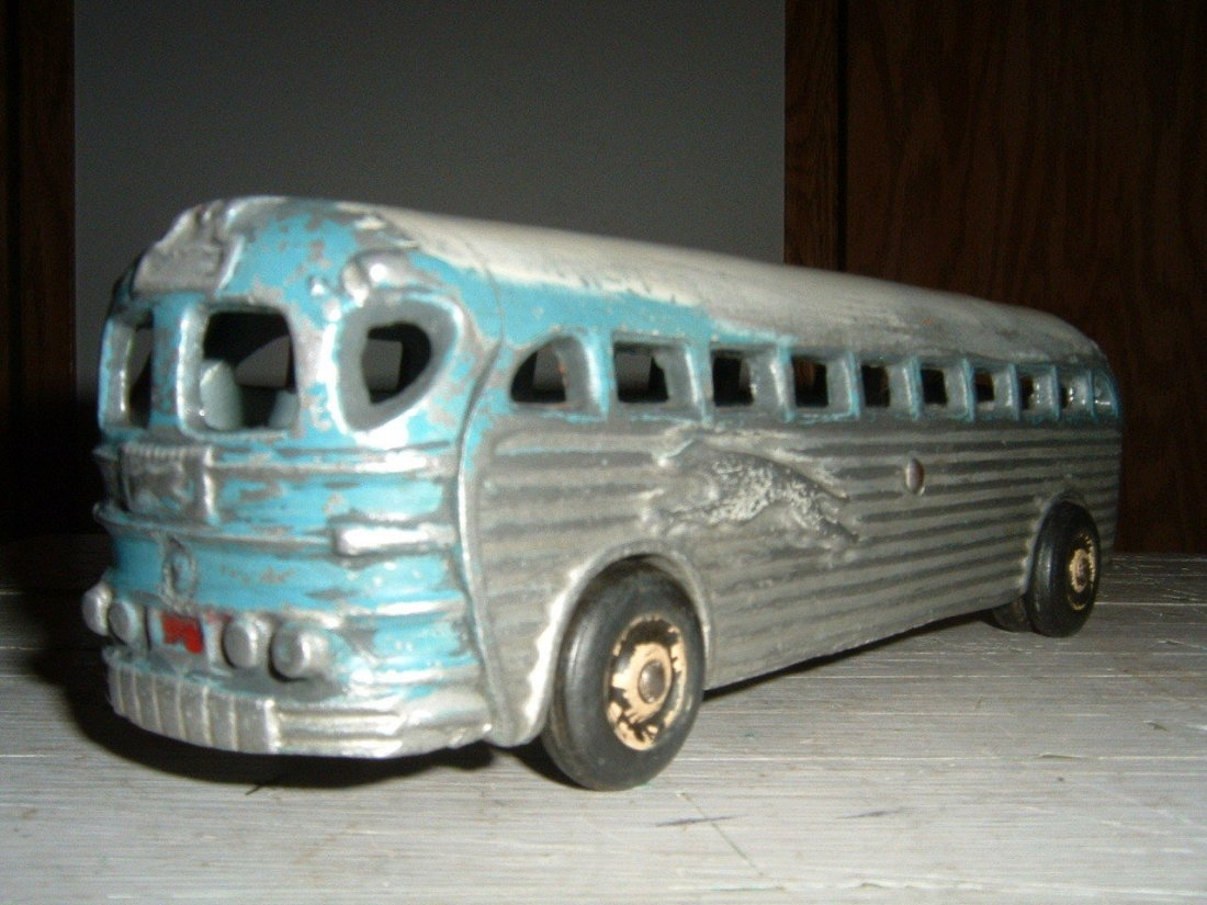 Cast Aluminum Greyhound Toy Bus, 1950's - 2