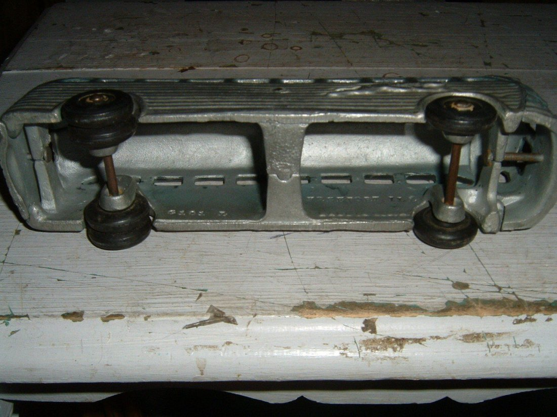 Cast Aluminum Greyhound Toy Bus, 1950's - 3