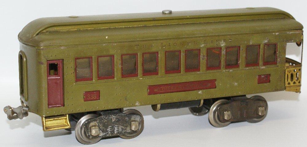 Pre-War Standard Gauge Lionel Lighted Green Train Car - 2