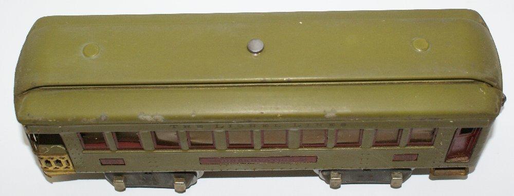 Pre-War Standard Gauge Lionel Lighted Green Train Car - 4
