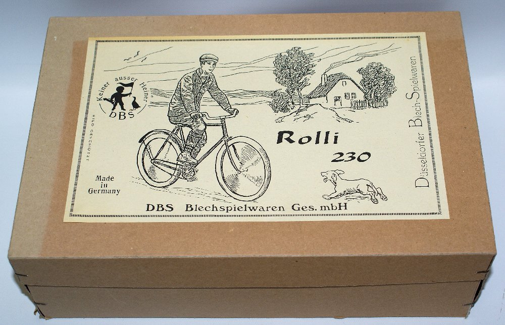 Rolli 230 Tin Wind-up Bicycle with Rider Figure - 3