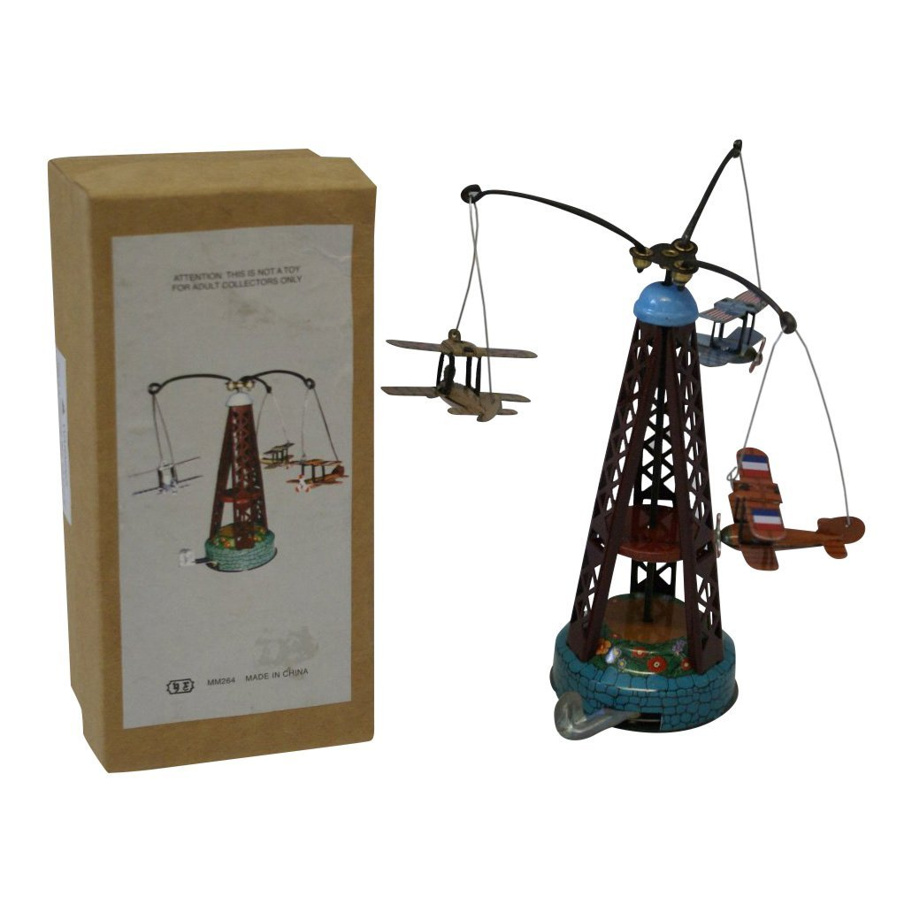 Flying Airplanes Tin Wind-Up Carousel