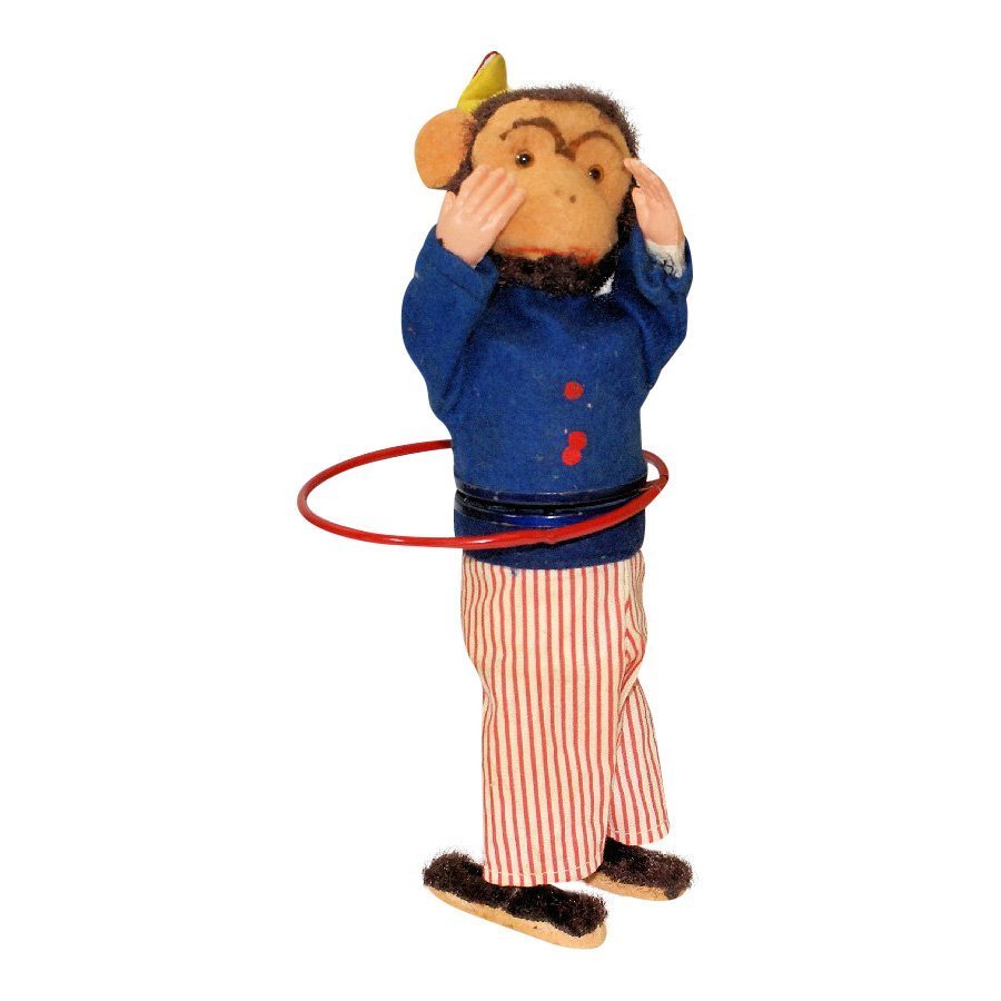 Charlie Chimp the Hula Expert Wind Up Monkey Figure