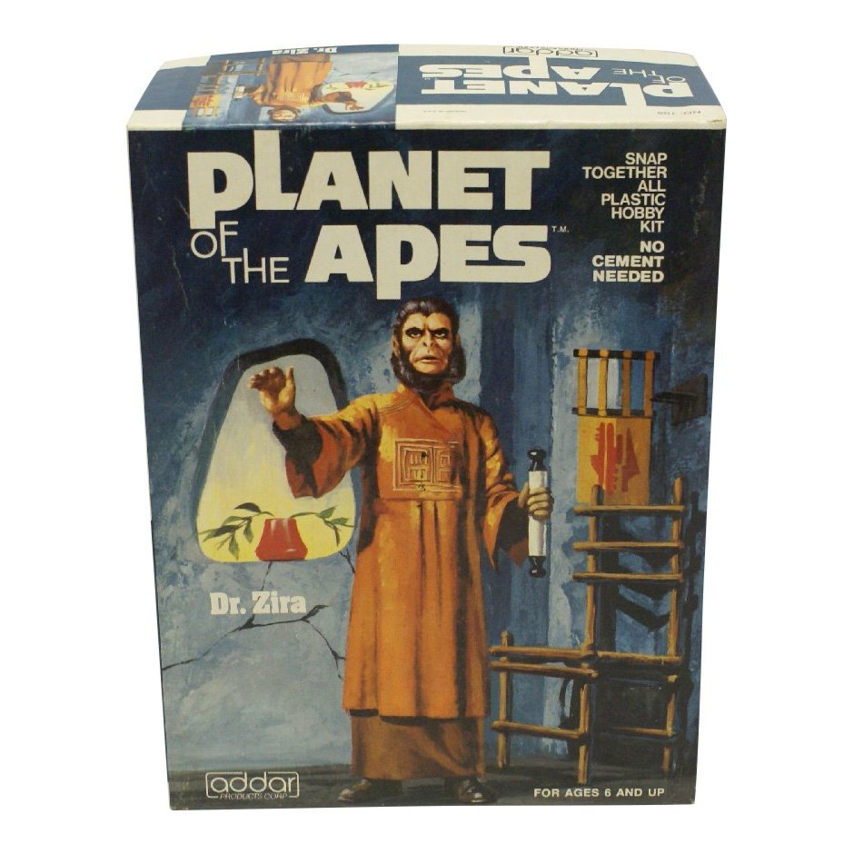 Planet of the Apes Plastic Model Kit of Dr. Zira, 1974