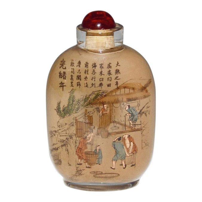 Guangxu Painted Glass Snuff Bottle