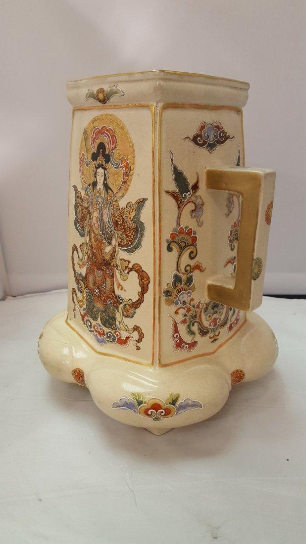 Japanese Satsuma Handpainted Porcelain Vase, 19th Cent - 2