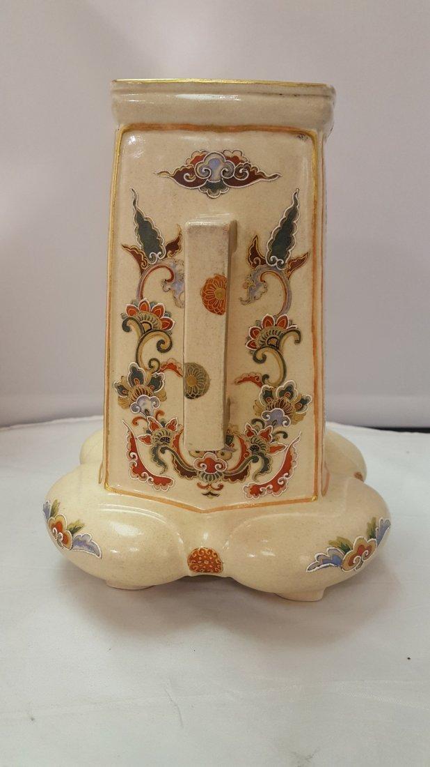 Japanese Satsuma Handpainted Porcelain Vase, 19th Cent - 3
