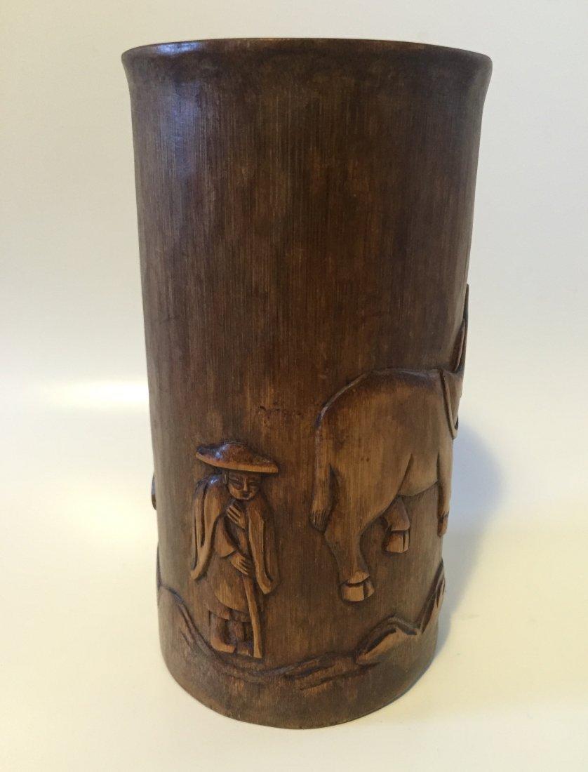 Asian Bamboo Brush Pot - 2