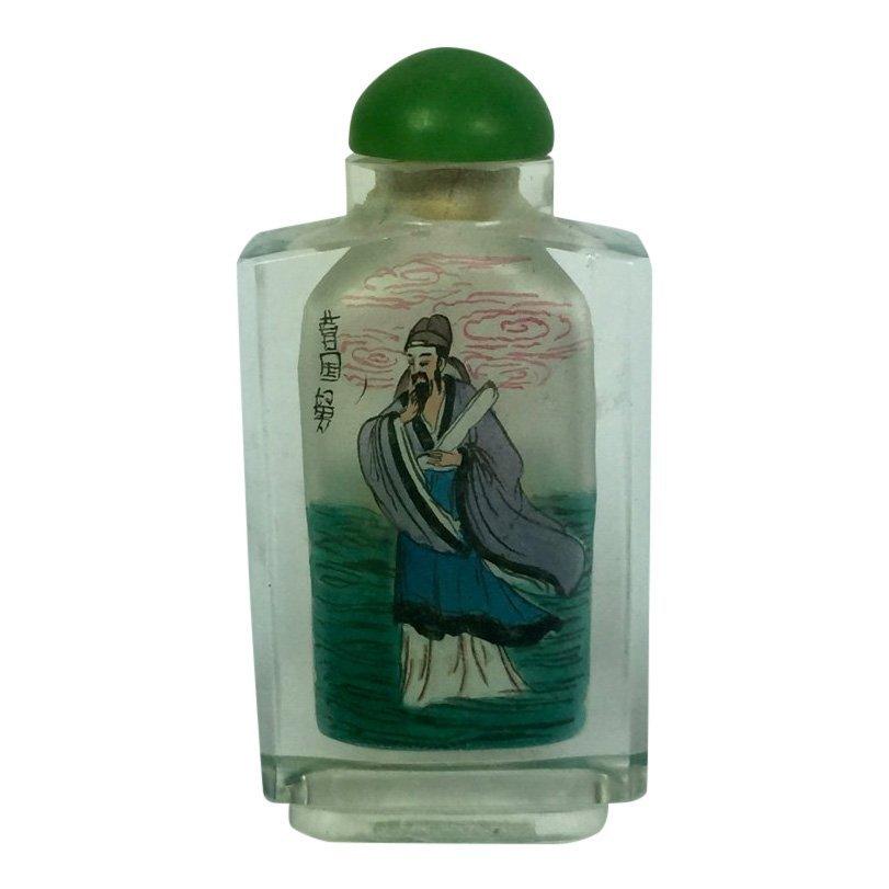 Three Reverse Painting on Glass Snuff Bottles