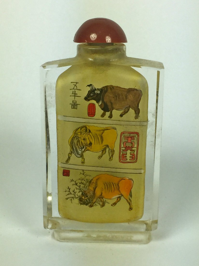 Three Reverse Painting on Glass Snuff Bottles - 2