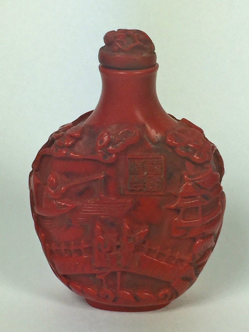Two Red Lacquer Snuff Bottles - 2