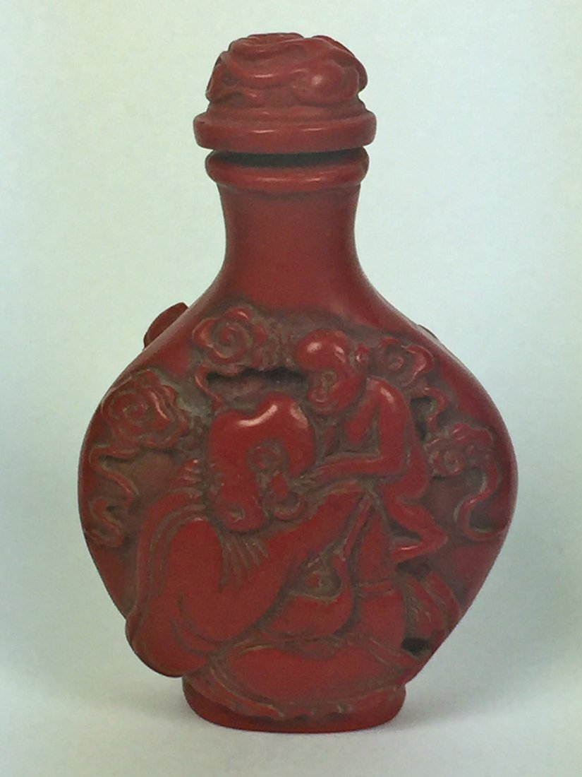 Two Red Lacquer Snuff Bottles - 4