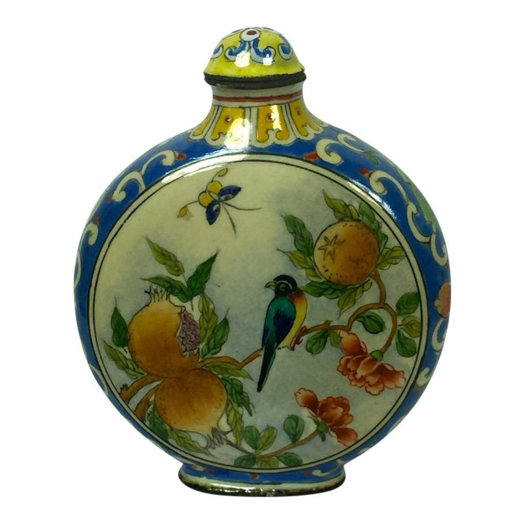 Three Enameled Snuff Bottles