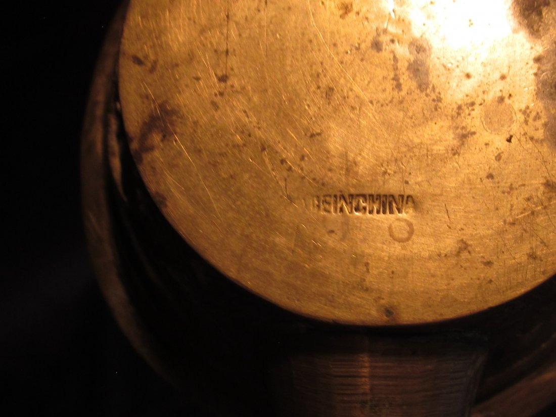 Lot of Chinese Enamel Brass Bell, Silk Iron & Ashtray - 3