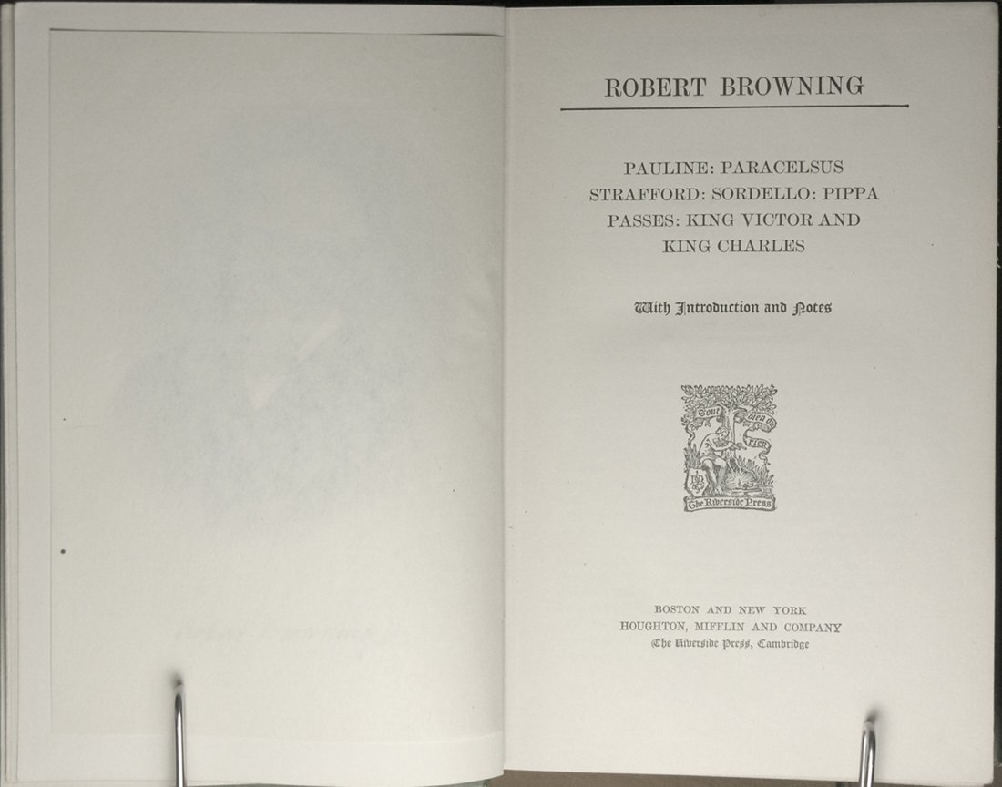 The Poetic and Dramatic Works of Robert Browning 6 Vols - 4