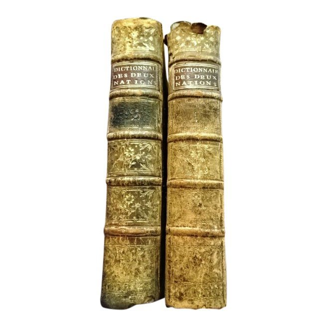 German French Dictionary 1782