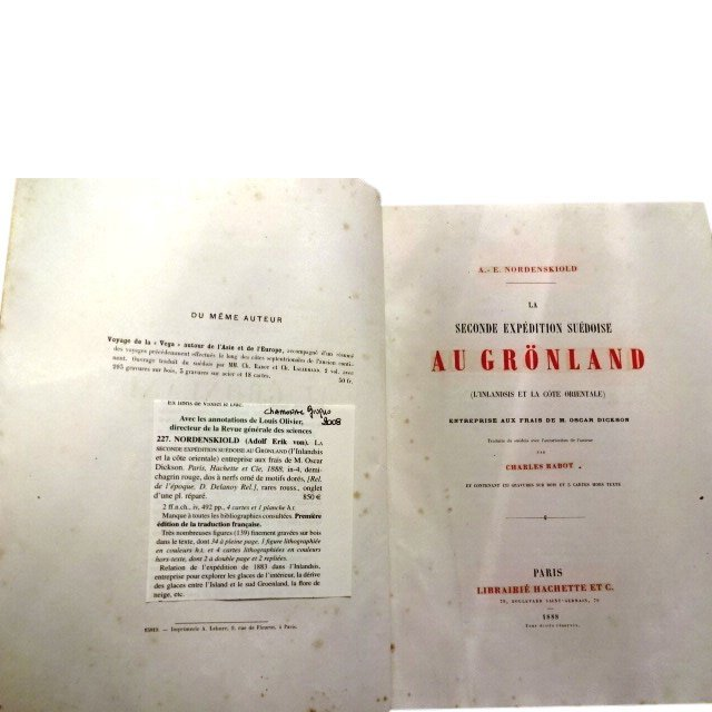 Nordenskiold La Seconde Expedition Suedoise Au Gronland