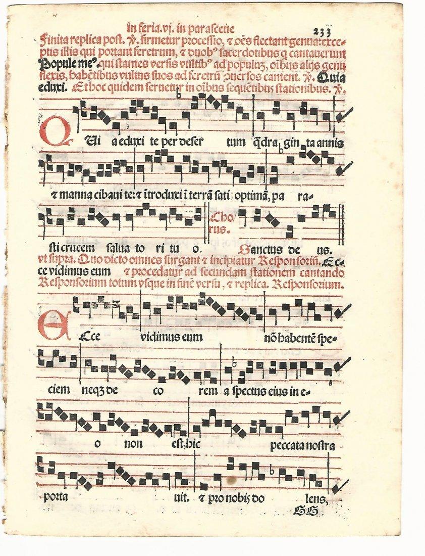 Hymnal Leaf Catholic Liturgy 1567