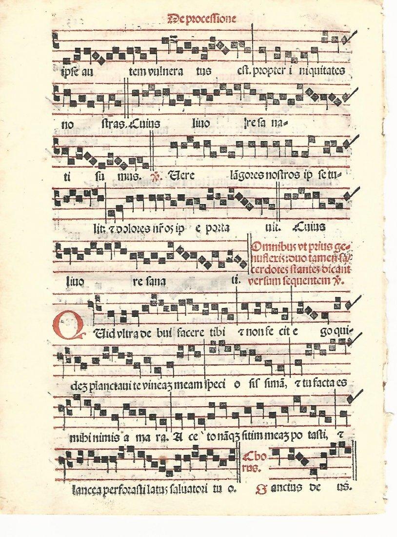 Hymnal Leaf Catholic Liturgy 1567 - 2