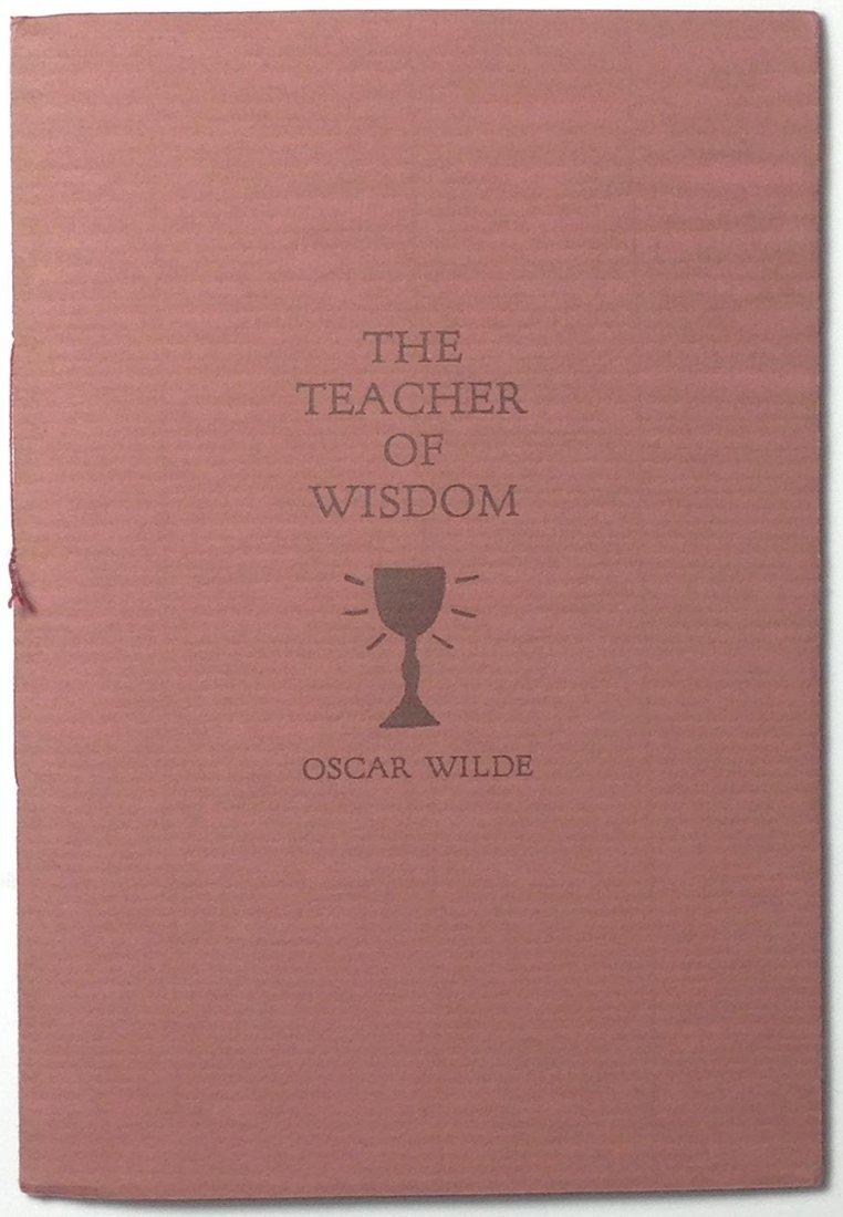 The Teacher of Wisdom by Oscar Wilde