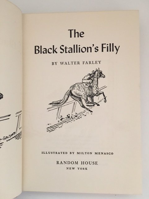 Black Stallion's Filly by Walter Farley, Signed 1952 - 3