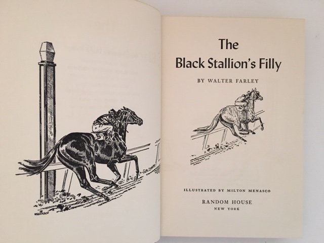 Black Stallion's Filly by Walter Farley, Signed 1952 - 5