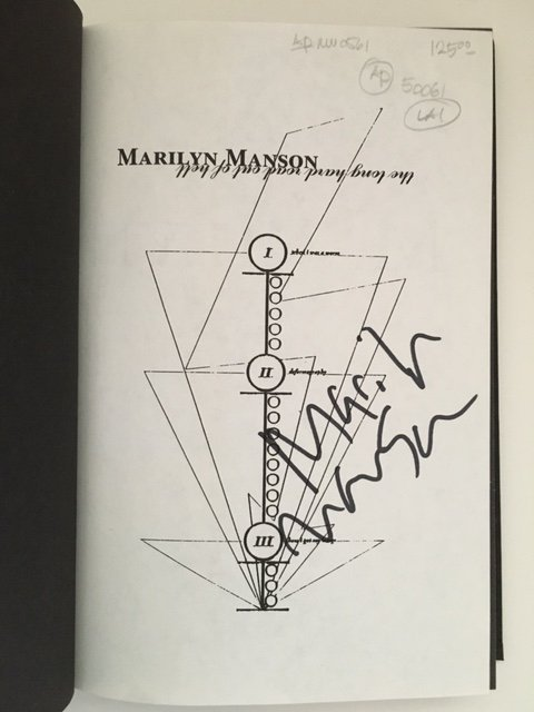 The Long Hard Road by Marilyn Manson, Signed 1998 - 6