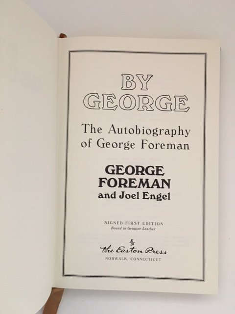 The Autobiography of George Foreman, Signed 1995 - 3