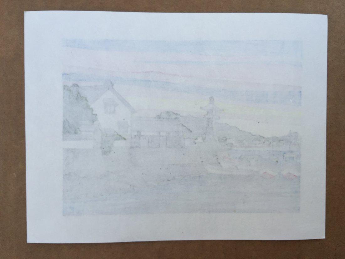 Ido Masao: Harbor Wharf and Boat, 1980 - 2