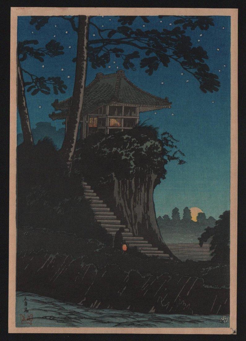 Takahashi Shotei: Tokumochi in Starry Night, 1936