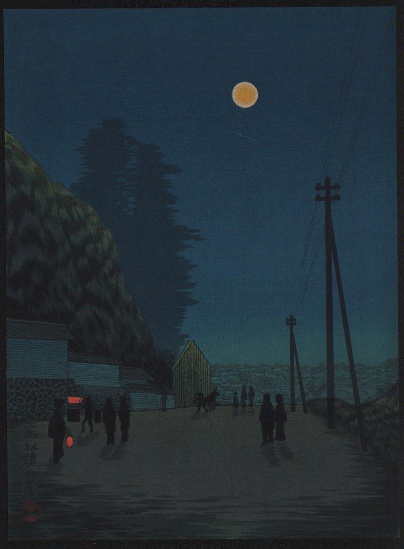 Kobayashi Kiyochika: Full Moon, 1910's