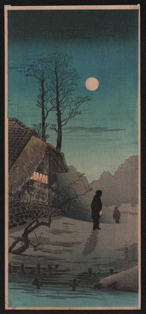 Takahashi Shotei: Moon at Old Country House, 1936