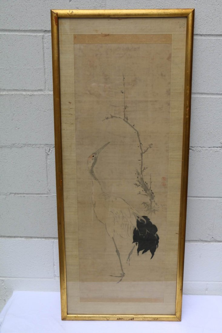 Egret and Branch Asian Print