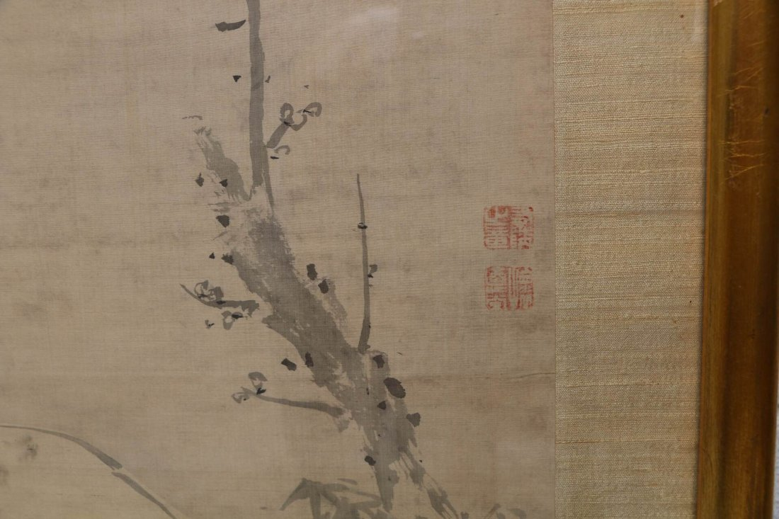 Egret and Branch Asian Print - 3