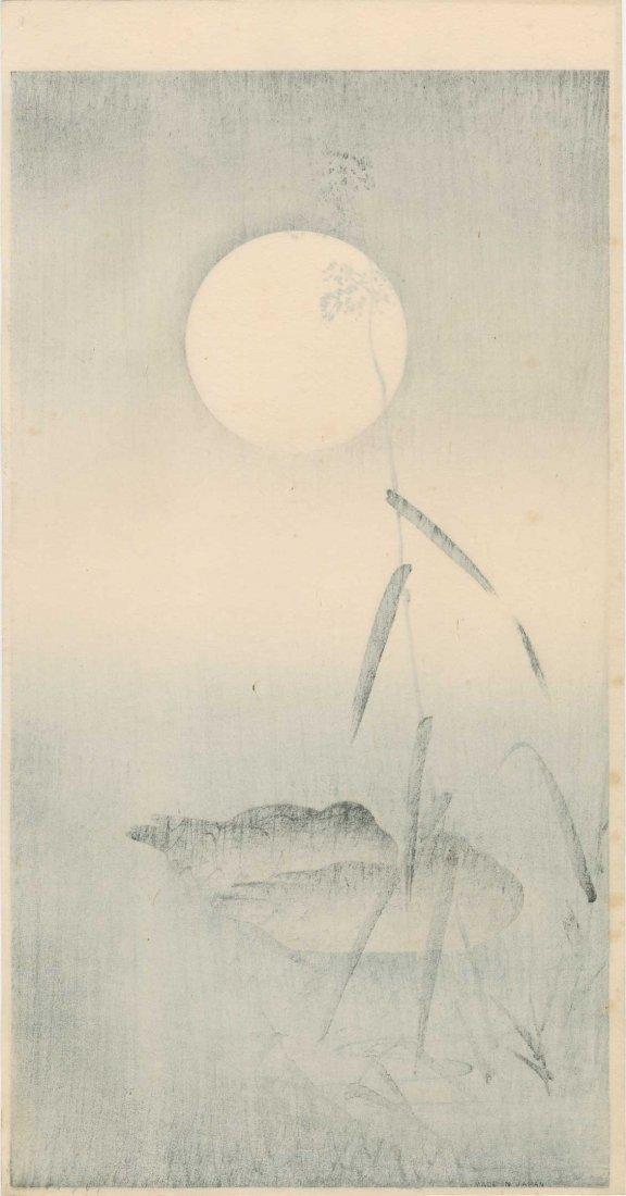 Ohara Koson: Sleeping Ducks and Full Moon, 1920's - 2